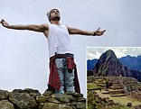 Best view ever: Liam Payne and Harry Styles take a break from One Direction world tour to climb Machu Picchu in Peru