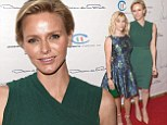Emerald in the crown! Princess Charlene is glamorous in green bodycon as accepts Champion of Children Award from Reese Witherspoon