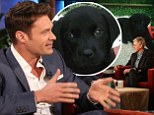 'This is a relationship': Ryan Seacrest reveals his latest love on Ellen... his new puppy Georgia