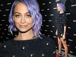 Nicole Richie displays her toned pins in daring minidress slashed to upper thigh