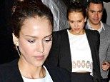 It's my birthday! Jessica Alba showed off her toned midriff as she celebrated her 33rd birthday with her husband Cash Warren at Craig's restaurant in West Hollywood Monday night