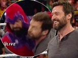 Wolverine rules the ring! Hugh Jackman gets physical with 'Magneto' on WWE Raw
