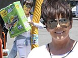 See, I'm just like you! Kris Jenner steals Khloe's style to go shopping for discount toilet paper at Costco with Bruce