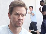 Marky Mark and the bouncy bunch! Wahlberg has lunch with basketball star Draymond Green in Los Angeles