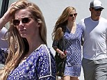 Brooklyn Decker and Andy Roddick stuck close together after attending a TOMS Walk Without Shoes event in Los Angeles, California on Tuesday