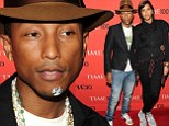 Hot spot! Pharrell Williams even manages to make a giant zit a fashion statement as he performs at two events on the same night