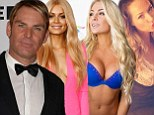 Shane Warne recruits a bevy of blondes for charity party... but is he just looking to bowl over a new maiden?