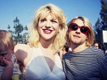 Just prior to April 1994: Kurt Cobain of Nirvana (right) with wife Courtney Love and daughter Frances Bean Cobain