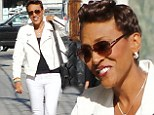 Making the rounds: Robin Roberts arrived on Tuesday for an appearance on Jimmy Kimmel Live! in Hollywood