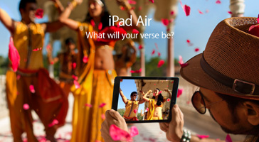 iPad Air. What will your verse be?
