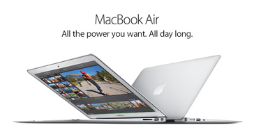 MacBook Air. All the power you want. All day long.