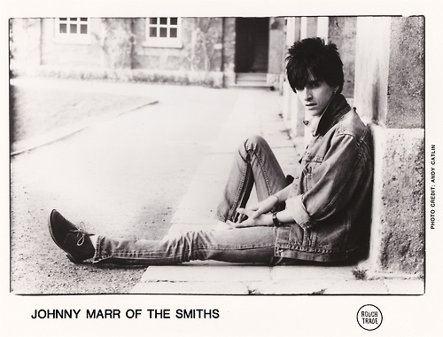 1984 Johnny Marr promo photo by Andy Catlin.