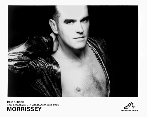 Morrissey promo photo by Mike Owen, 1992.