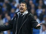 Robbed? Oscar Garcia has complained that the referee denied Brighton two penalties in their play-off defeat