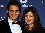Happy: Roger Federer's wife Mirka has given birth to twins boys, Leo and Lenny