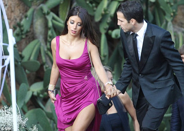 Fabregas is said to have immediately fallen for the beauty even though she was married