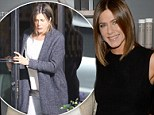 Back to her stylish best! Jennifer Aniston shows off sleek bob and sculpted arms in black dress after weeks of dressing down for movie role