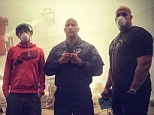 Ready to Rock! Dwayne Johnson lifts the curtain on San Andreas set