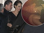 Brad Pitt can't resist a squeeze of Angelina Jolie's calf as the couple go from swish royal soiree to low-key dinner with Foreign Secretary William Hague