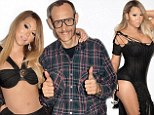 She's one of Terry's girls now! Controversial celebrity photographer Richardson shares sexy behind-the-scenes snaps with underwear-clad Mariah Carey
