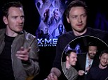 Blurring the line of professionalism: Hugh Jackman interrupts an interview with his X-Men co-stars to provide them with a dance break