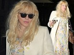 Courtney Love looks worse for wear after she parties at the Chiltern Firehouse
