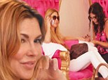 Primped and polished: 41-year-old reality star Brandi Glanville got the princess treatment on Friday when she went out for a manicure and pedicure in Beverly Hills