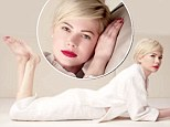 Barefoot Michelle Williams rocks red lip and white jumper in new Louis Vuitton advert