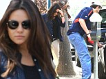 Too much of a pregnant pause! Ashton Kutcher gets parking ticket after overlong breakfast with expecting fiancee Mila Kunis