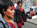 Emergency in Gotham City: 42-year-old actress Jada Pinkett Smith was forced to leave the set of her new TV show on Friday when a fire broke out in the building next door