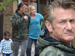 One big happy family! Sean Penn steps out in Manhattan with Charlize Theron's mother Gerda and her little boy Jackson