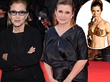 'She lost 40 pounds!': Debbie Reynolds reveals daughter Carrie Fisher dramatically slimmed down to resume Princess Leia role in new Star Wars film