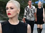 Gwen Stefani is stylish in black mini dress and boots while Gavin Rossdale sports patterned shirt for friend's nuptials