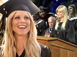 The Swedish model-turned-American citizen graduated with a degree in psychology from Rollins College in Florida after working through classes over the past nine years.