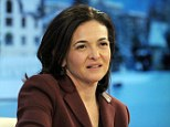 Facebook COO Sheryl Sandberg listens during a session at the World Economic Forum  in Davos on January 25, 2014