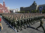 Russia marked Victory Day in Moscow today with a parade that amounted to a show of military strength