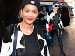 Rita Ora sports quirky coat and biker trousers for the second day in a row ahead of G-A-Y performance