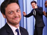 X-Men star James McAvoy gets smacked in the face during funny game of invisible Double Dutch with Jimmy Fallon on Tonight Show