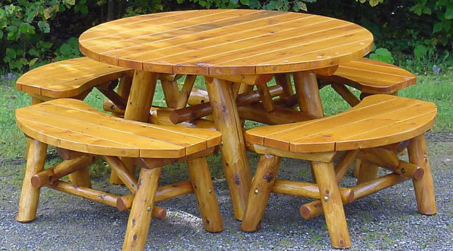 PA Rustic White Cedar Log Furniture | Outdoor Indoor Log Furniture