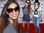 Jordin Sparks displays her legs in tiny shorts while Shakira dons ripped jeans as they gear up for the Billboard Music Awards