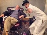 'Bae caught me sleeping': Justin Bieber posts a humorous snap of himself posing next to a sleeping man