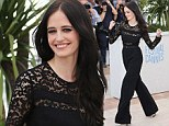 Eva Green highlights her lithe frame in lacy black jumpsuit as she joins The Salvation cast at Cannes Film Festival