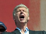 Look at his face! Arsene Wenger shows his joy and relief at winning the FA Cup
