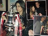 Arsenal WAGS celebrate Gunners' FA Cup victory following Wembley showdown