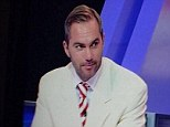 All white: The former Liverpool midfielder got in the Cup final mood on Al Jazeera