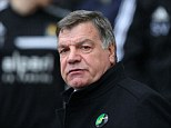 Grim viewing: Allardyce has struggled to win over the Hammers' supporters throughout his time at Upton Park