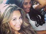 On our way to Wembley: Ludivine Sagna (R) and Mesut Ozil's girlfriend Mandy Capisto en route to the final