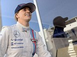 Ina action: Susie Wolff was testing for Williams ahead of her grand prix debut at Silverstone later this year