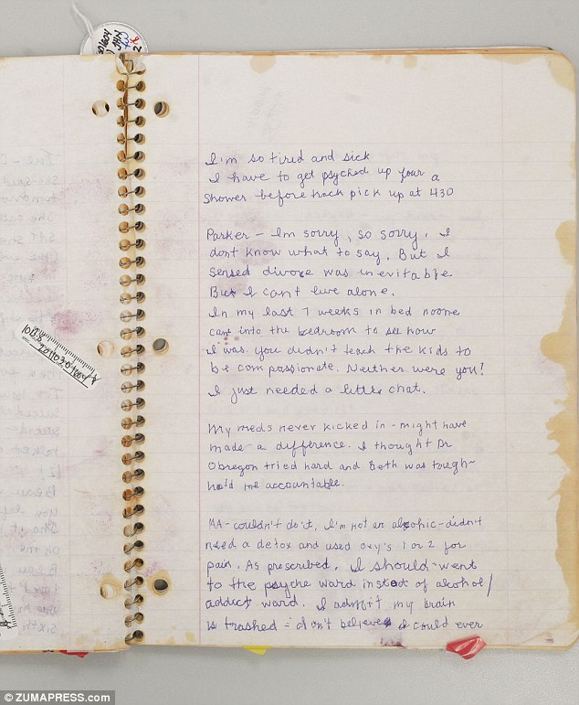 Haunting: Pages from Julie Schenecker's journal which was used as evidence during her murder trial. In the stomach-churning notebook she detailed her plan to kill her children and then herself, however passed out before she could commit suicide