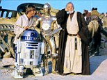 Blockbuster: Actors in the first Star Wars movie relax on set